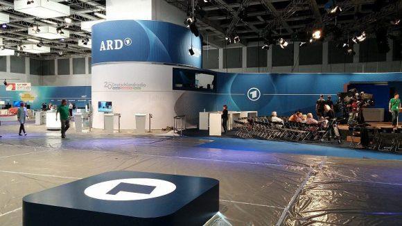 So sieht es am Tag vor der Eröffnung vor der IFA-Bühne der ARD aus.