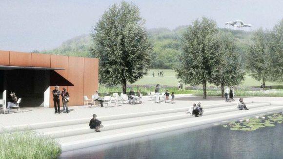 Die Erweiterung des Wuhleteichs kommt nicht - der Platz am Gewässer soll entgegen der ursprünglichen Planung mit mehr Holz gestaltet werden.