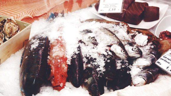 Im Fischschuppen an der Boxhagener Straße wählst du vor dem Essen Lachs, Garnelen oder Forelle aus, die anschließend für dich gebrutzelt werden