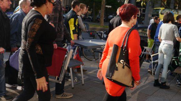 Der Run auf das neue iPhone 6 in Berlin.