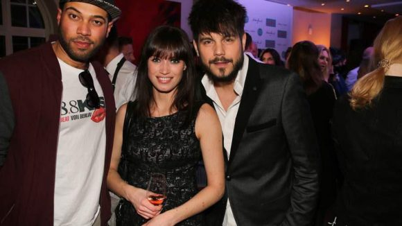 Und wo wir schon beim Radio sind: Big Moe von Kiss FM (links) war auch da. Hier zusammen mit Sänger Nevio Passaro und seiner Partnerin Verena.
