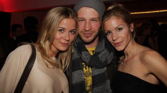 """Die Ex-""""GZSZ""""-Stars Jessica Ginkel und Oliver Bender, die von 2008 bis 2010 ein Paar waren, mit dem Ex-Biest aus """"Verliebt in Berlin"""" Nina Gnädig."""