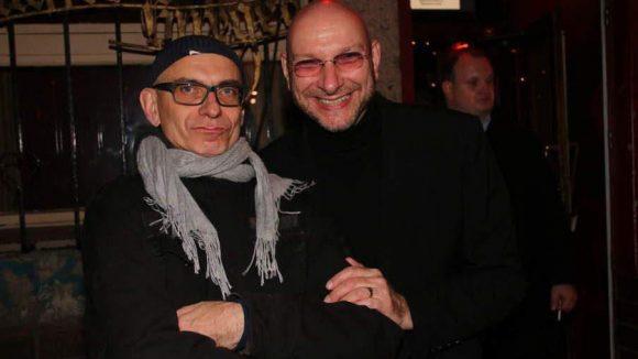 """... Joachim Flicker (l., Renaissance Theater) nebst Schauspieler und Entertainer Ralph Morgenstern (in diesem Jahr auch mit """"Der nackte Wahnsinn"""" am Renaissance Theater) ..."""