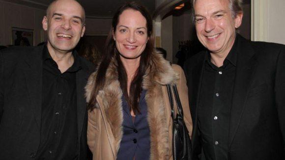 Joachim Kosack (Geschäftsführer Ufa), Natalia Wörner als Gast und Produzent Dr. Jürgen Schuster (teamWorx).