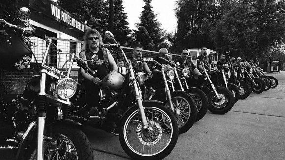 Die Jungs vom Motorrradclub Wild Force haben ihr Heim in Marzahn-Hellersdorf.