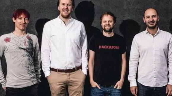 Hier sieht man die vier Gründer der Website Jobspotting.de.