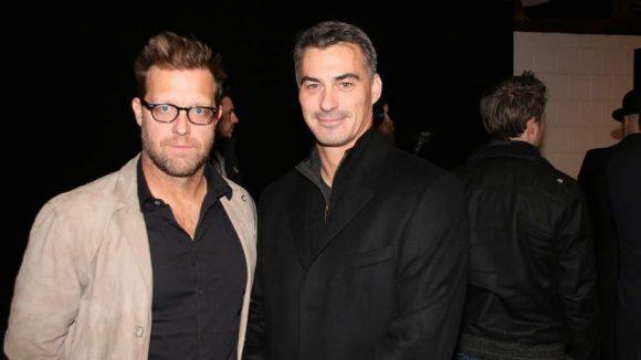 Wenn schon der Hollywood-Star selber nicht anreisen konnte, dann wenigstens die Regisseure David Leitch (links) und Chad Stehelski.