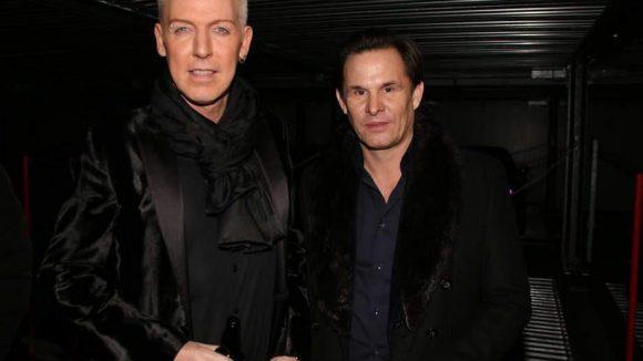 Hatte musikalisch zwar nichts beizusteuern, glänzte dafür mit Anwesenheit: Scooter-Frontmann HP Baxxter (links) neben dem Agenturinhaber Marc Schilkowski.
