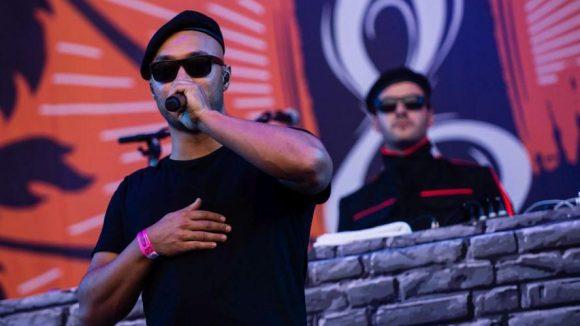Normalerweise auf größeren Bühnen unterwegs: die Rapper von K.I.Z. bei Rock im Park in Nürnberg im Juni 2015.