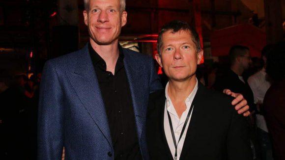 ... hier die Gastgeber: Kalle Friz (l.) und Rudolphe Buet (beide von studiocanal) ...