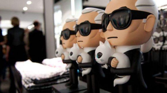 Bei der Eröffnung des Karl Lagerfeld Concept Stores in Mitte Anfang Juli.