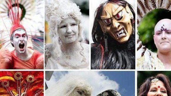 Beim Karneval der Kulturen wird es auch dieses Jahr wieder viele bunt bemalte Gesichter und auffällige Kostüme geben. Welches gefällt Ihnen am besten?