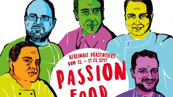 Diese erlesene Runde bekocht dich zum kulinarischen Kino (v.l.): Alexander Koppe, Christian Lohse, Eneko Atxa, Tim Raue und Sebastian Frank.