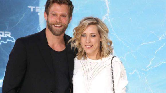 Auch diese beiden wirkten gespannt auf dem Film: Schauspieler Ken Duken und seine Frau und Kollegin Marisa Leonie Bach.