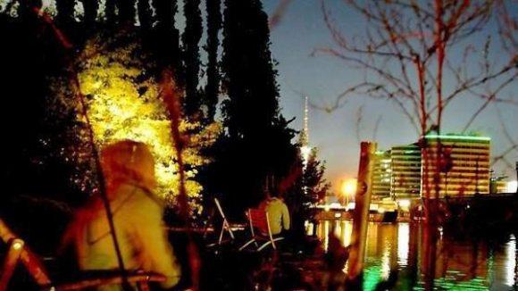 Legendär. Der Blick vom Kiki Blofeld auf die Stadt - ob's in Oberschöneweide auch so wird?