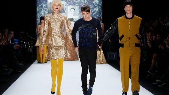 Der Designer ließ sich und seine Models feiern.