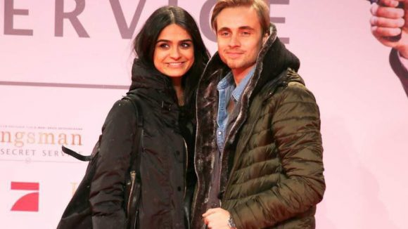 Hübsches Paar: Schauspieler und Sänger Constantin von Jascheroff und Modedesignerin Haleh Esbak.