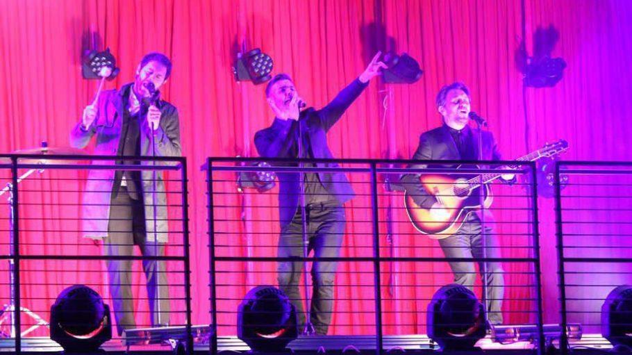 """Der Höhepunkt am Anfang: Take That minus Robbie Williams treten im Cinestar Sony Center auf, bevor """"Kingsman - The Secret Service"""" seine Deutschland-Premiere feiert."""