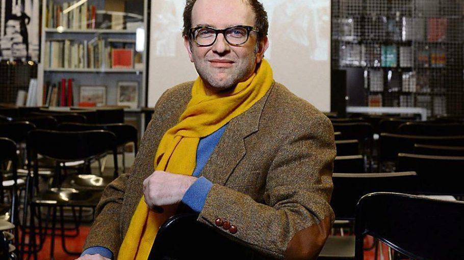 Kinomacher und Regisseur Patrick Banush im Bücherbogen am Savignyplatz.