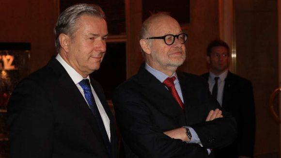 Wowi (links) mit dem Staatsopernchef Jürgen Flimm.