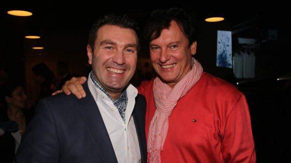 Schlager-Freunde: Gastgeber und Hoteldirektor Paolo Masaracchia (l.) mit Starfrisör Dieter Bonnstädter.