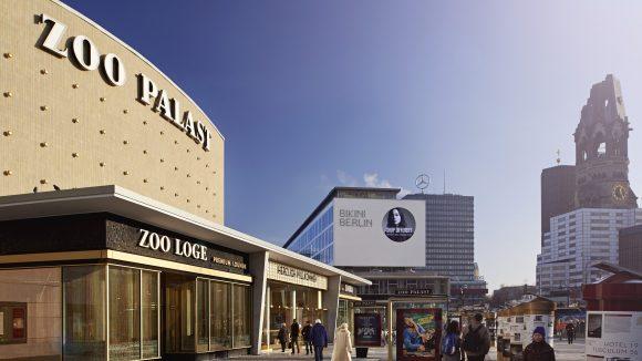 Die neue City-West mit Zoo Palast, Bikinihaus und Gedächtniskirche