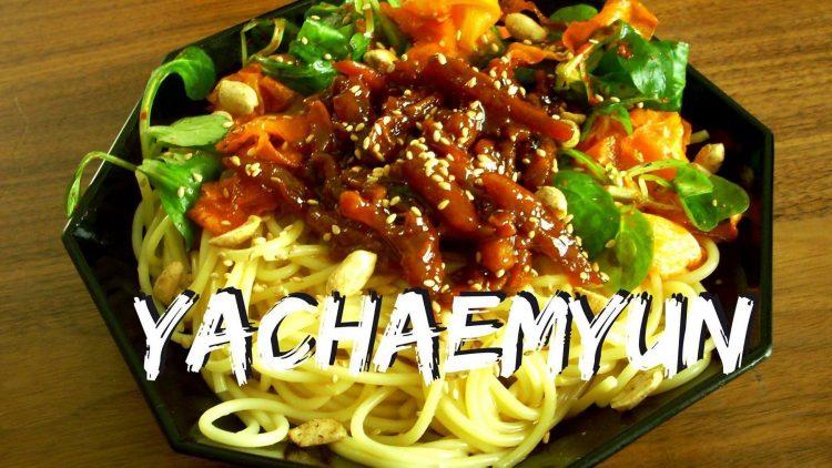 Verdammt koreanisch, verdammt vegan und vor allem verdammt lecker ist dieses Yachaemyun.