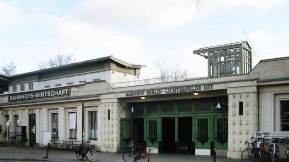 """Die """"Rückansicht"""" des Bahnhofs."""