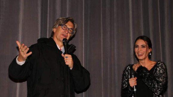 """Pate Wim Wenders mit der Hauptdarstellerin von """"Winterschlaf"""", Melisa Sözen (Goldene Palme in Cannes)."""