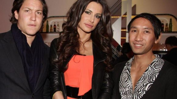 Kunsthändler Vito Schnabel, Model und Mätthaus-Ex Joanna Tuczynska und Booker Nicolas Sutokromo.