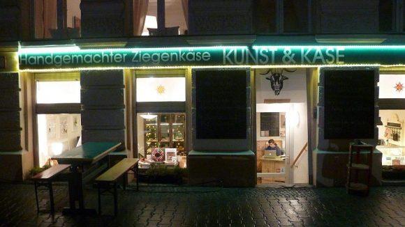 Kunst&Käse ist in einem Kellergeschoss in der Solmsstraße beheimatet.