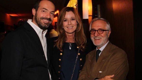 Josef Voelk (rechts) und Emmanuel de Bayser von The Corner mit PR-Frau Andrea Schoeller.