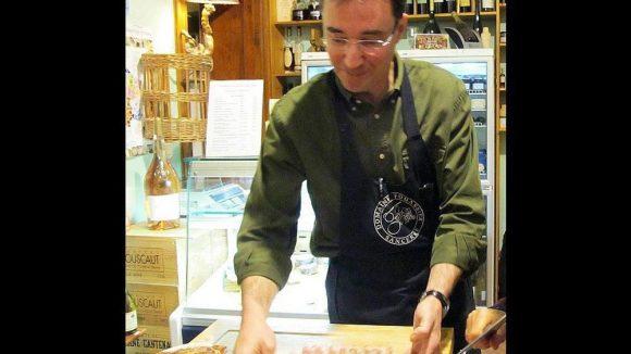Christophe mit den Lammkotelett.