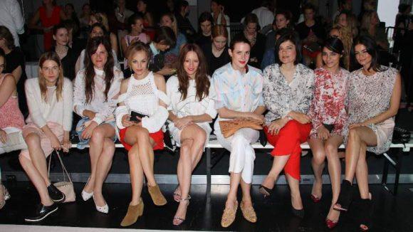 Lala Berlin sorgte für eine erlesene Front Row - und alle natürlich in Lala gekleidet.