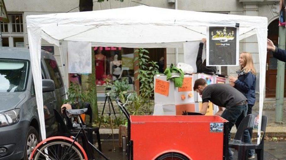 Lastenfahrräder sieht man auf Berlins Straßen immer häufiger. Diese Tendenz könnte durchs Lastrad-Sharing noch verstärkt werden.