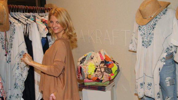 Auch der Store von Designerin Anna Kraft hatte geöffnet.