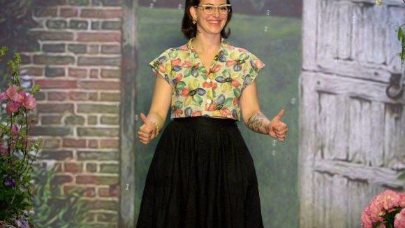 Die Designerin bei ihrer Fashion Show im Juli in Berlin.