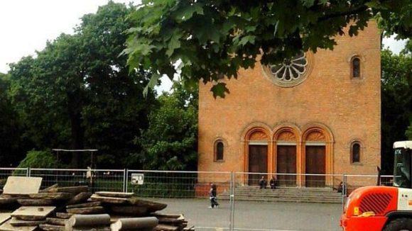 """In der letzten Bauphase am """"Leo"""" wird der Platz vor der Alten Nazarethkirche neu gestaltet."""