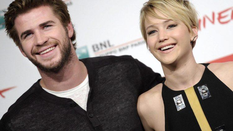 Liam Hemsworth und Jennifer Lawrence sind für Dreharbeiten in Berlin.
