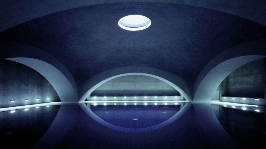 Die Kuppelhalle im Liquidrom.
