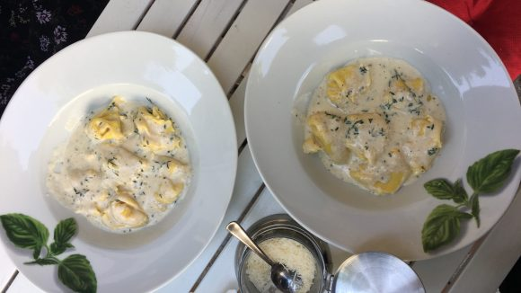 Little Italy in der Mittagpause: Leckere Ziegenkäse-Ravioli.
