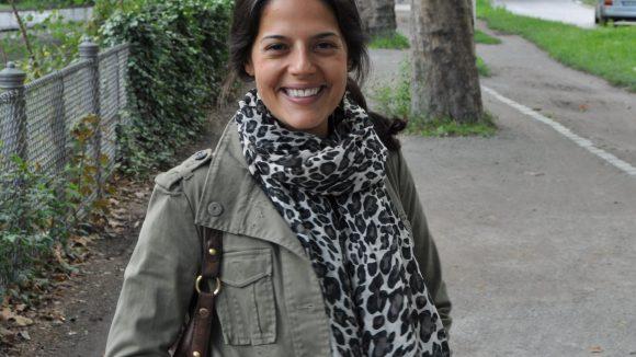 Seit vier Jahren lebt Luisa Weiss im Klausenerkiez und ist hier sehr glücklich.