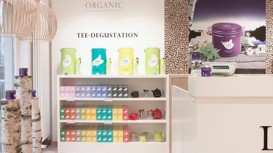 Neuer Tee-Tempel in Berlin Mitte: In derLøv Organic Boutique gibt's über 20 Teesorten zu kaufen, aber auch zum Probieren. Vorbeischauen lohnt!