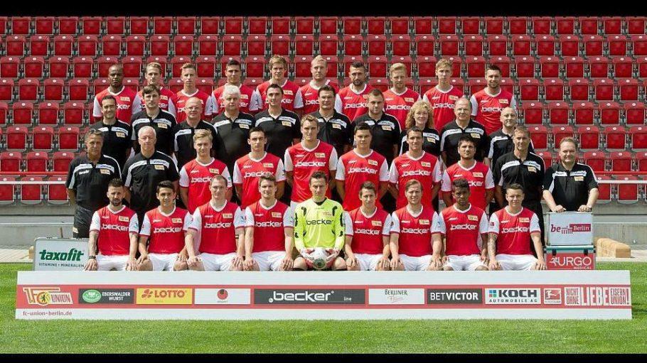 Das offizielle Mannschaftsfoto des 1. FC Union zur Saison 2013/14.