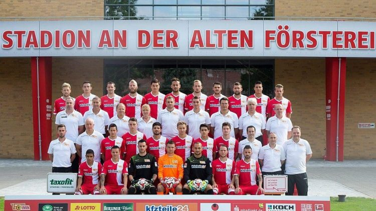 Das offizielle Mannschaftsfoto des 1. FC Union zur Saison 2014/15.