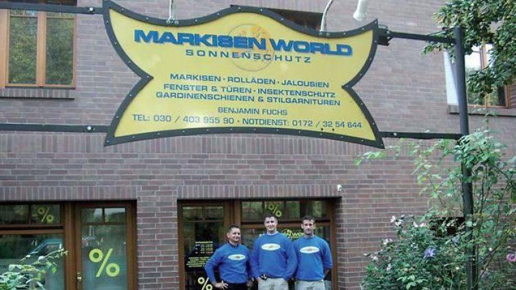 """Das Team der """"Markisen World""""."""