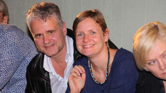 Martin Woelffer (Chef des Theaters am Kurfürstendamm) mit Frau Anika.
