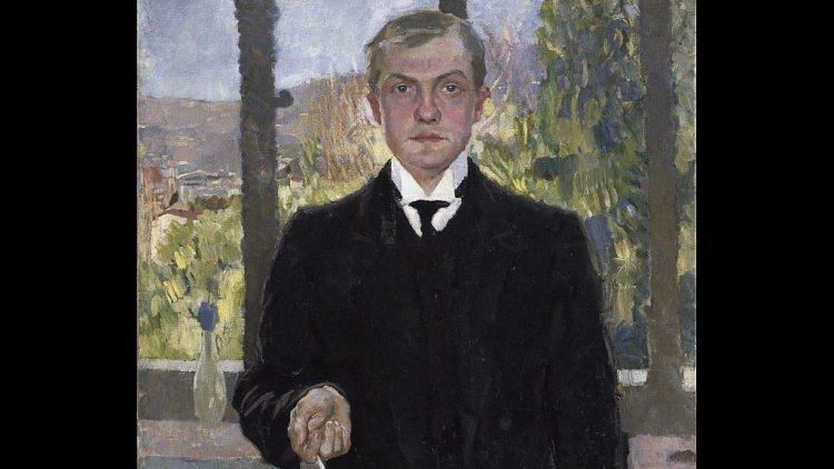 Max Beckmann, Selbstbildnis Florenz, 1907, Hamburger Kunsthalle, Leihgabe aus einer Privatsammlung.