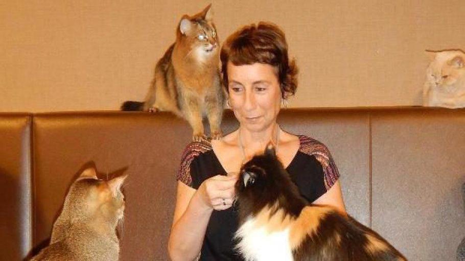 Andrea Schauer hat ein Händchen für Katzen.