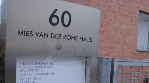 Das Mies van der Rohe Haus: Seit 1977 steht das Gebäude unter Denkmalschutz.